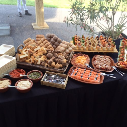 Product Diverse canapés geroosterd.